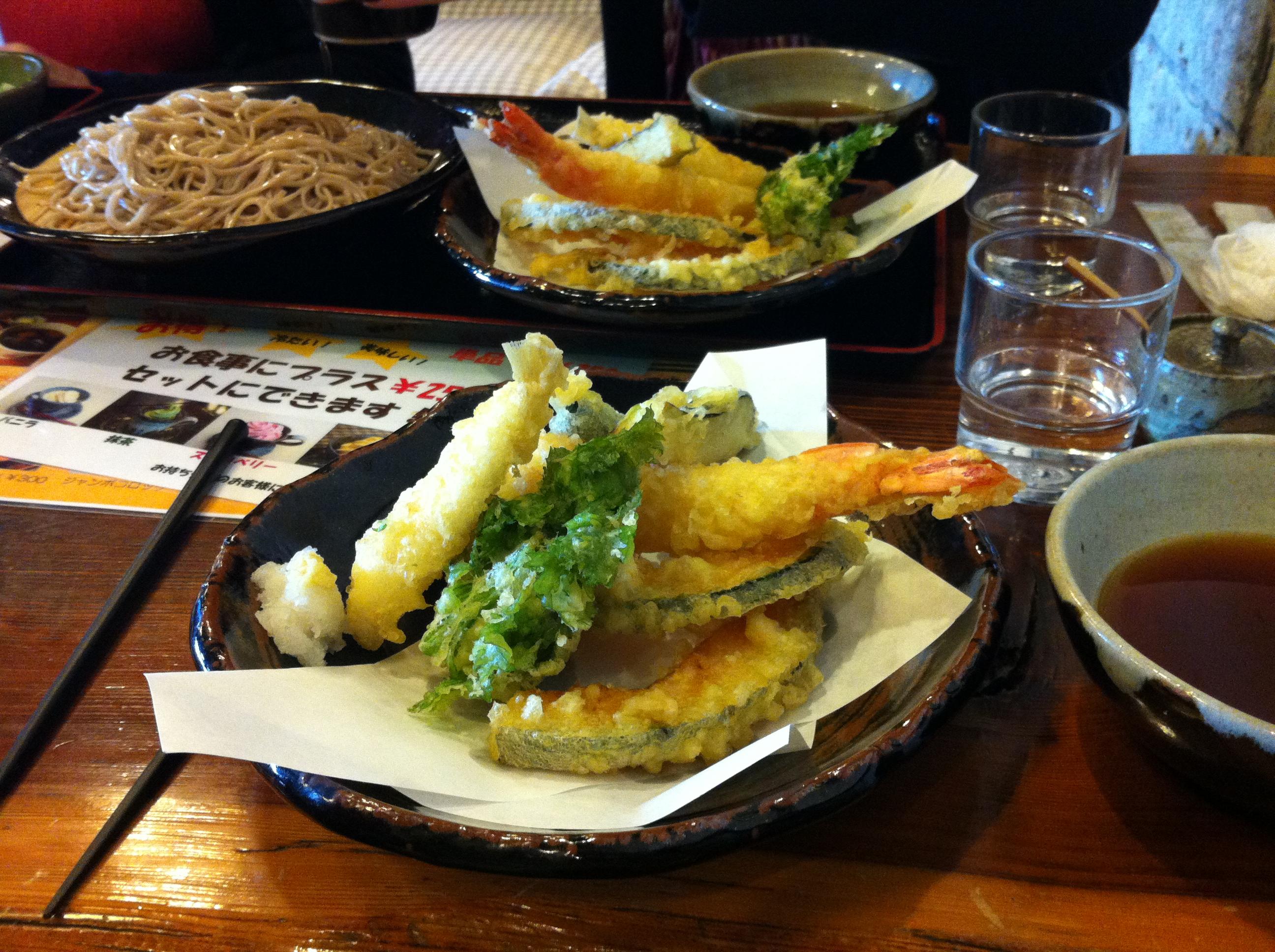 Veg & prawn tempura