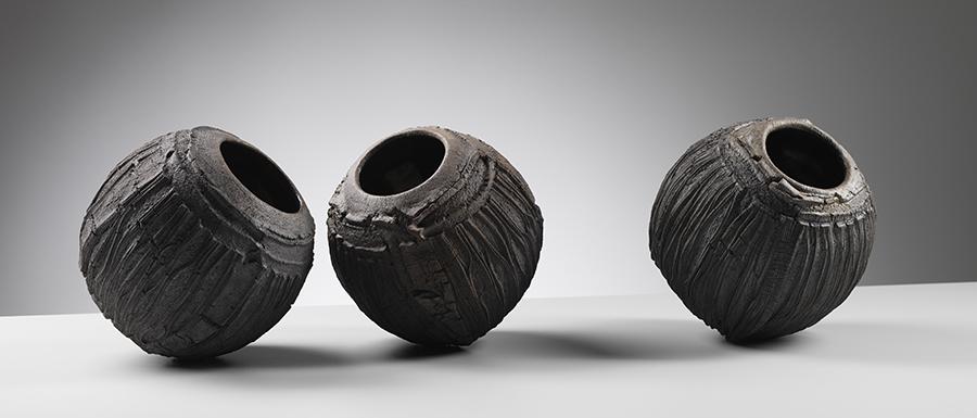 PatriciaShone.ErosionBowls.raku fired earthenware.hts15cm.imageShannonTofts-resized