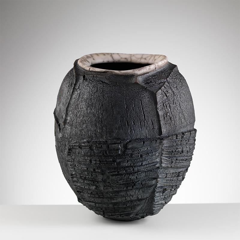 patricia-shone-ceramics-erosion-jar-4-raku-fired-image-shannon-tofts