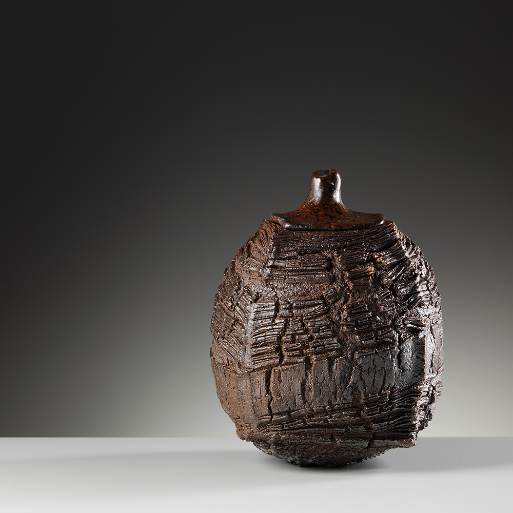 patricia-shone-potter-skye-woodfired-lidded erosion jar-photo-shannon-tofts