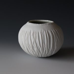 Porcelain Ice Erosion bowl by Patricia Shone
