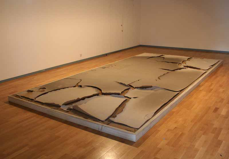 Patricia Shone Ceramics, path to the iron well