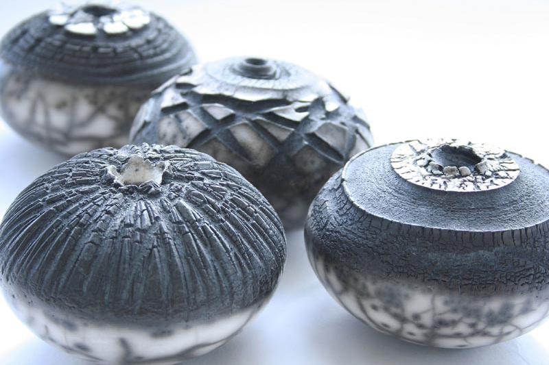 Patricia Shone Ceramics, Small Contour Jars